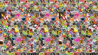 Sticker Wall Paper Sticker Bomb Wallpaper Hd