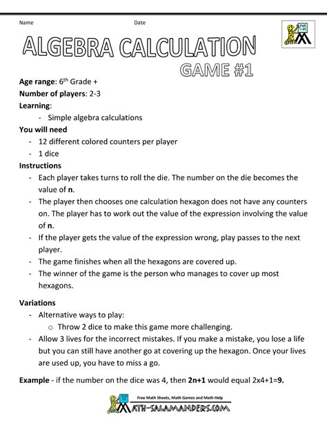 Math Expressions Worksheets Grade 6 by Uncategorized 6th Grade Math Expressions Worksheets