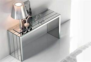 modern glass console table