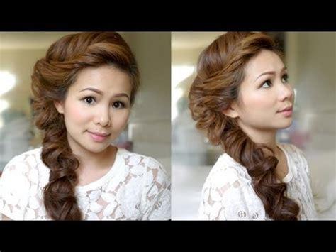 tutorial makeup natural ke kus hair tutorial romantic fishtail braid youtube