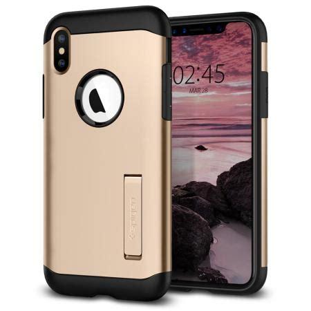 spigen slim armor iphone xs max tough case gold