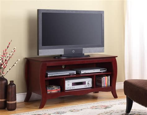 Tv Stand For 50 Inch Tv by Dark Brown Wooden Tv Stand With Five Shelves Combined With
