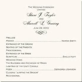 wedding reception ceremony order