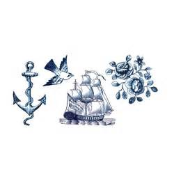 nautical design tattly designy temporary tattoos nautical set