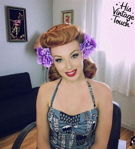 Pinup Hairstyles by 40 Pin Up Hairstyles For The Vintage Loving
