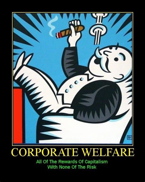 Corporate America Meme - corporate welfare meme sultan knish dear corporate