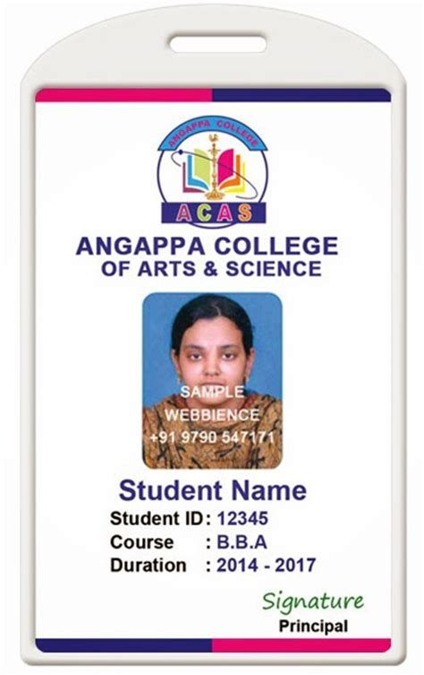 indian college id card template id card coimbatore ph 97905 47171 college id card