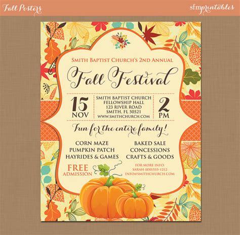 fall festival flyer templates free fall festival harvest invitation poster pumpkin patch
