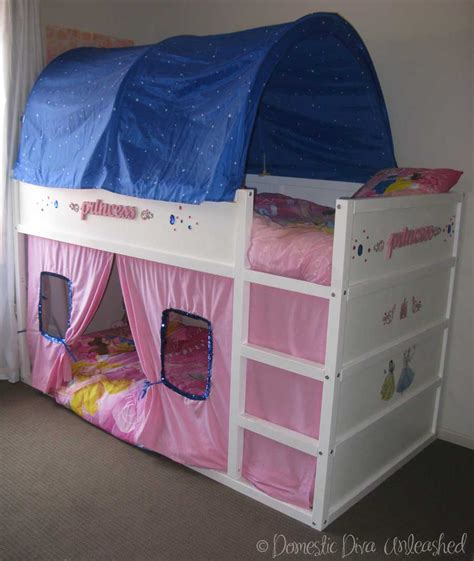 ikea kura bunk bed domestic diva princess ikea kura bed makeover for the