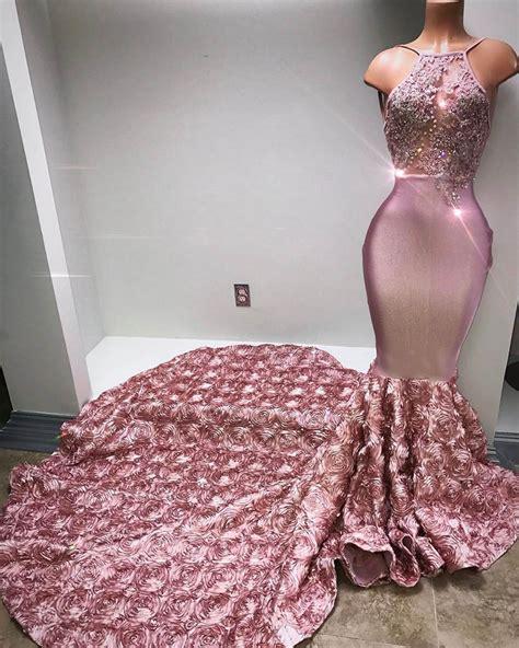 Longdress Set 2in1 Glitter Pink luxury mermaid prom dress 3d flowers pink beaded evening dresses prom dresses 2018 prom