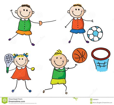 doodles basketball spielen sport stock vector illustration of doodle