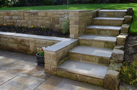 step by step diy garden steps and stairs the garden glove patio walling garden steps harrogate yorkshire pro