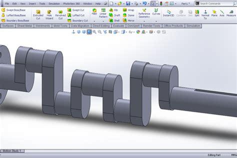 solidworks tutorial crankshaft tutorial modeling crank shaft in solidworks grabcad