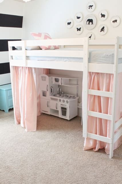 Bunk Bed With Space Underneath Loft Bed With Play Space Underneath Diy Pinterest