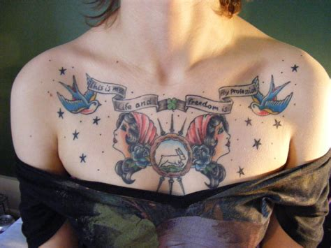ladies chest tattoo ideas chest photos images pictures fashion and