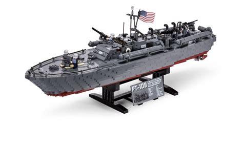 lego torpedo boat brickmania pt 109 elco 80 motor torpedo boat catawiki