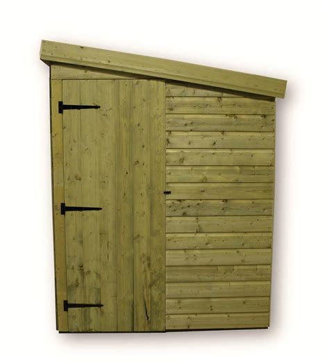 Shed With Side Door 8 X 6 Windowless Pressure Treated Tongue And Groove Pent