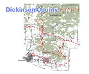 dickinson county michigan snowmobile trail map