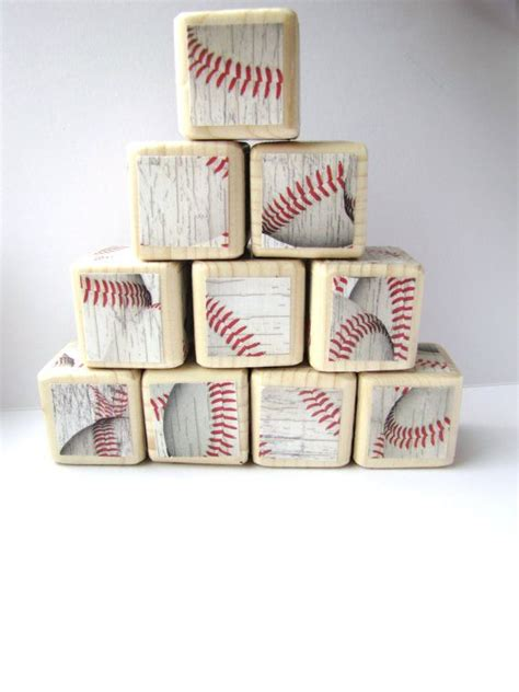 Sports Themed Nursery Decor Wood Blocks Baseball Sports Theme Nursery Decor Baby By Miabooo 30 00 Miabooo Children S