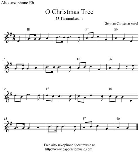 free printable sheet music alto sax o christmas tree o tannenbaum free christmas alto