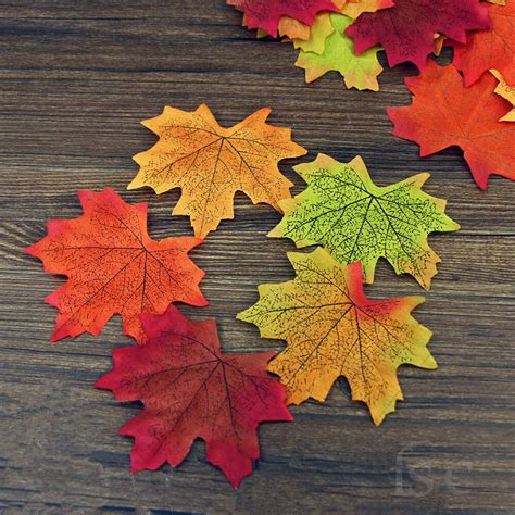fall leaves garland decorations 5x100 artificial maple leaf garland silk autumn fall