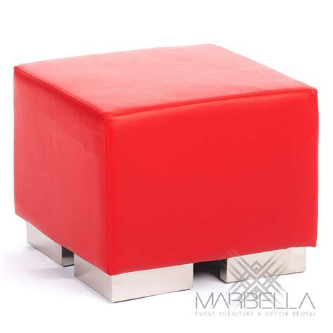 red and white ottoman square cube ottoman white