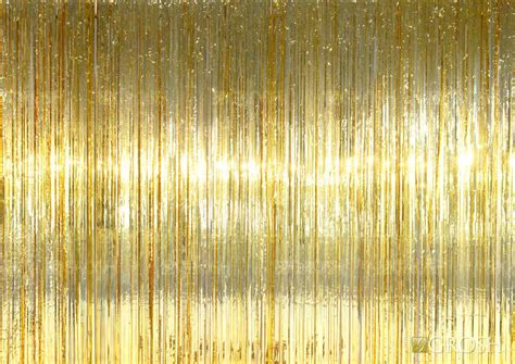 mylar rain curtain gold rain curtain grosh