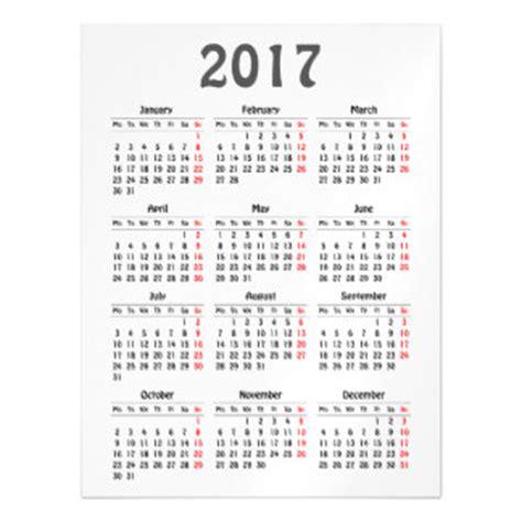 business card calendar template 2017 calendar cards zazzle