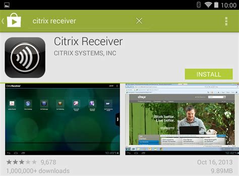 citrix receiver for android using desktop on android devices information technology services