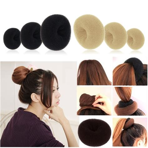 how to use bun formers 3 colors hair styler maker tool donut styling bun ring