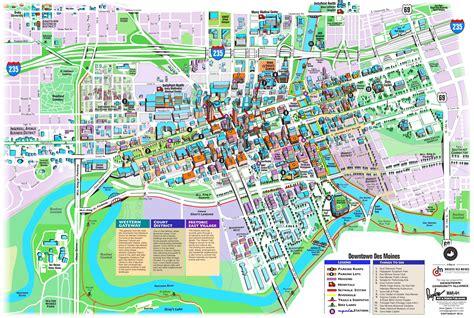 map of des moines des moines tourist attractions map