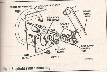 where can i find the brake light switch on a 1999 ford