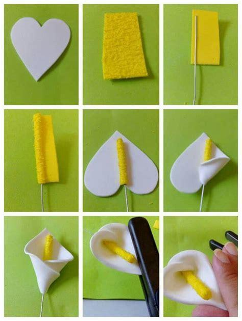 como hacer calas en papel crepe alcatrasa manualidades pinterest flores flores de
