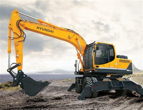 Ac Excavator r180w 9a wheeled excavator diggers hyundai