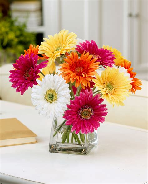 Ideas For Gerbera Flowers Decorate Happy With Gerbera Silk Flower Centerpiece At Petals