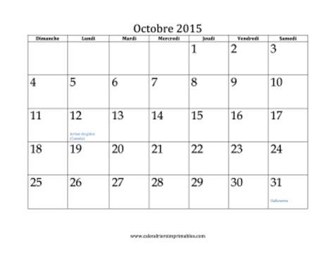 I Calendrier Octobre 2015 Calendrier Pour Octobre 2015