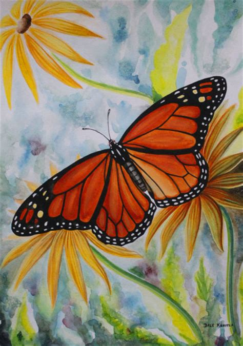 monarch color monarch butterfly water color dale knaffla
