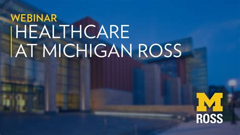 Michigan Ross Mba Concentrations by Careers In Healthcare Michigan Ross