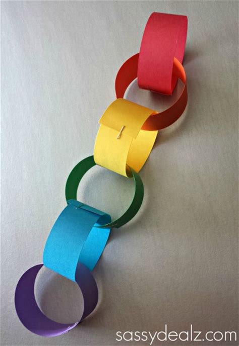 Paper Chain Craft - rainbow chain craft for st s day crafty morning
