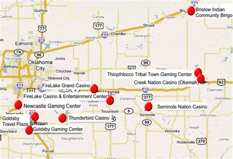 indian casinos in map centrl oklahoma indian casinos