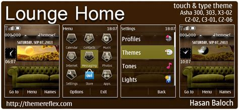 live home themes lounge home live theme for nokia asha 300 303 202 c2 02
