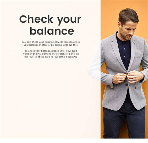 Gift Card Balance Inquiry - gift card balance enquiry burton menswear