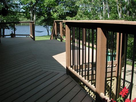 Composite Balusters For Decks Composite Deck Railing Trex Deck Halifax Lake Interior