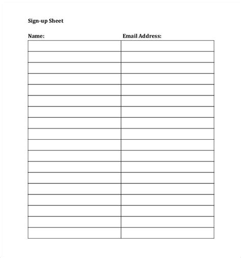 up name sign up sheets 53 free word excel pdf documents free premium templates