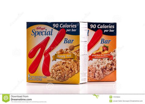 carbohydrates in kellogg s special k kellogg s special k nutrient bar editorial stock image