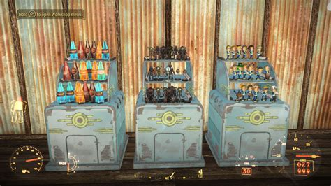 bobblehead fallout 4 stand functional display stands model robots nuka cola etc at