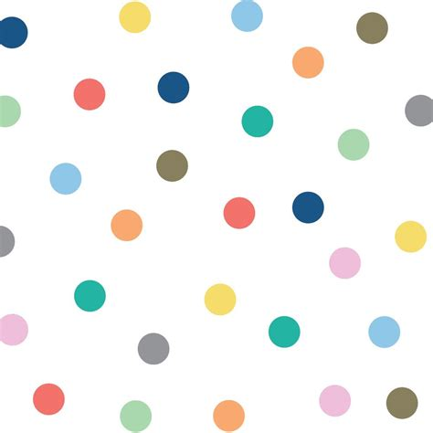 colour dots wall decal tresxics