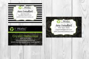 it works business cards it works business card you choose which one by
