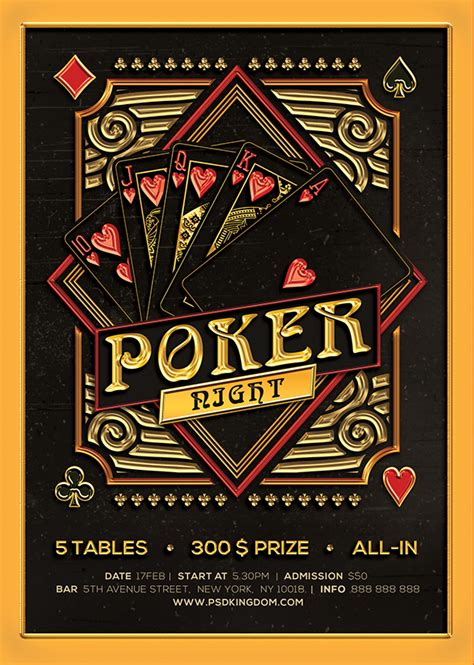 Poker Night Black Jack Template Flyers 4x6 On Behance 4x6 Flyer Template