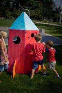 Owls Home Decor cardboard rocketship cardboard playhouse forts for